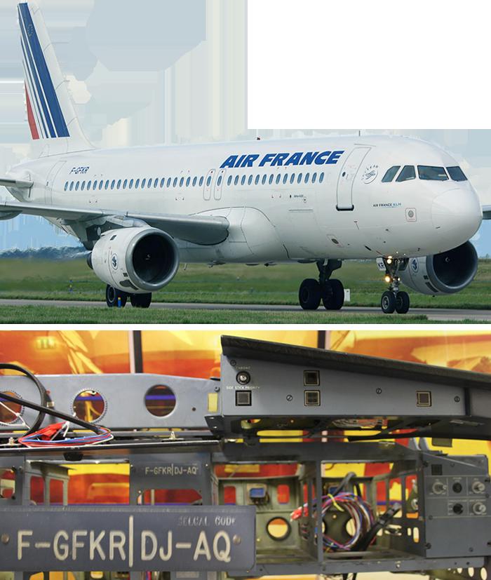 Aus diesem Airbus stammen unsere Originalteile. Googlen Sie doch mal die Kennung: F-GFKR, Secal-Code: DJ-AQ...